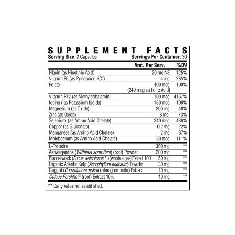 Total Thyroid Supplement Facts