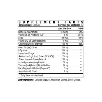 Phentra-lean Sf Non-stimulant Back Label