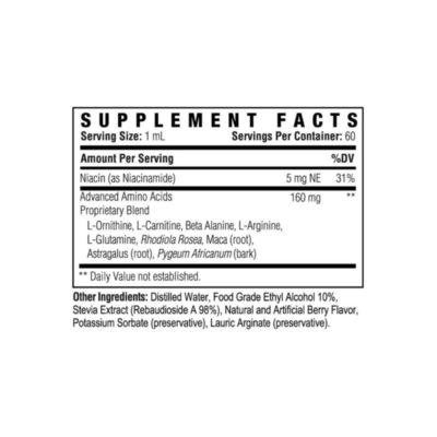 Muscle Balance Supplement Back Label