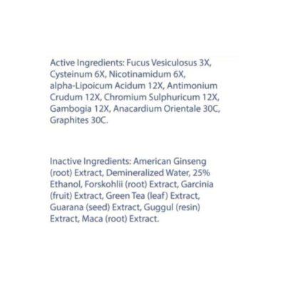 Transform 30 Fat-Melting Supplement Back Label